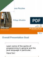 Java Puzzle