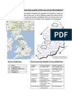 How Does Quality of Life Vary Across Birmingham? (ALEVEL GEOGRAPPHY RESEARCH PROJECTS)