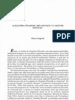 Alejandra Pizarnik- Melancolía y cadáver textual