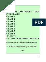 3º ASIENTOS CONTABLES TIPOS POR CLASES
