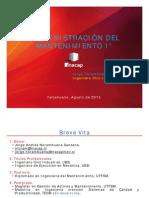 Administración del Mantenimiento I P-2012 Unidad 01(28-08-2012)