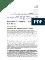Le Portail Microfinance   Microfinance au Maroc   l'expérience d'Al Amana
