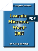 Learning Microsoft Word