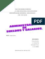 Administracion de Sueldos y Salarios( Trabajo)