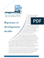 Migrations Et Developpement Durable