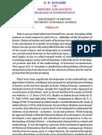 D. D. Kosambi on History and Society