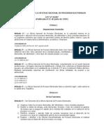 Ley Orgánica de la Oficina Nacional de Procesos Electorales (ONPE)