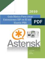 Guia Basica Para Crear Extensiones SIP en Elastix PBX-1