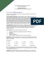 biomed syllabus