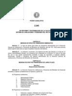 Ley 2345-2003 De reforma y sostenibilidad de la Caja Fiscal. Sistema de Jubilaciones y Pensiones del Sector Público