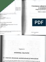 Mircea Agabrian - Cercetarea Calitativa a Socialului (Interviul Calitativ)