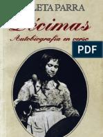 Violeta  Parra 1970 - Décimas escritas en 1958 (libro)