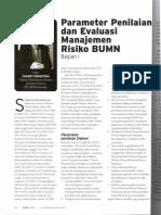 Diane Christina (2013) Parameter Penilaian dan Evaluasi Manajemen Risiko. BUMN Track, Agustus 2013