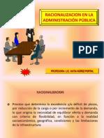 Racionalizaci+¦n en la Administraci+¦n P+¦blica (Semana 18)