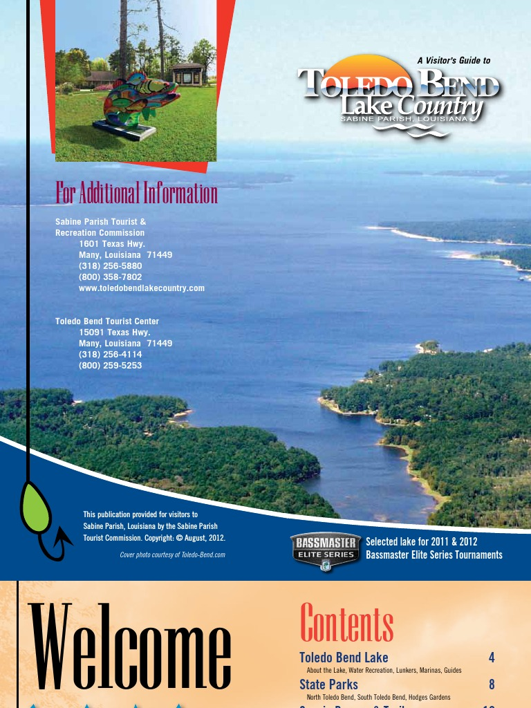 2012 Toledo Bend Visitors Guide Tourism And Leisure Hotel And