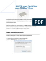 Abrir Puerto 80 HTTP Server