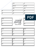 ADX Setting Sheet