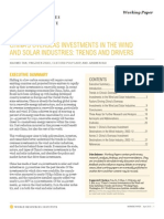 Chinas Overseas Investments in Wind and Solar Trends and Drivers