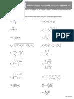 CFP Provided Formulas