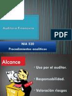 NIA 520. Procedimientos analtícos