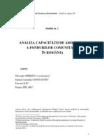Analiza Capacitatii de Absorbtie a Fondurilor Com Unit Are Din Romania