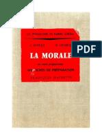 Morale (La) 01 Cours Préparatoire 160 Fiches de préparation Levesque-Leclercq 1960