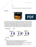 Calibration of Peristaltic Pump