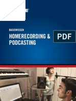 De Basiswissen Homerecording Podcasting