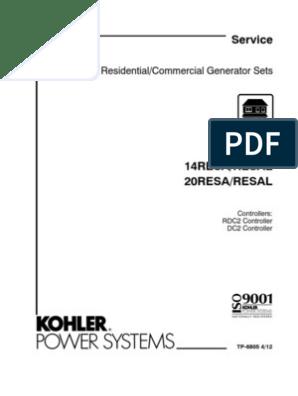 Kohler tp6805 14/20RESA/L Service Manual | Sulfuric Acid ... on standby generator wiring diagram, kohler steam generator parts, kohler steam generator installation, generator transfer switch wiring diagram, kohler steam generator manual,