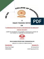 Training Report Signalling and Telecommunication Work