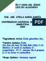 APLICACIÓN Y USOS DEL ÁCIDO GIBERÉLICO EN ALCACHOFA