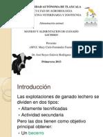 Manejo y Alimentacion en Ganado Lechero 2013