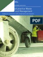 Achieving Good Practice Waste Minimisation and Management