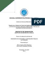 TFG - ''Diseño de un Sistema de Control de Gestion para la Planificacion y Control de Inventarios aplicando el Metodo ABC y 5S's de una Importadora de Electrodomesticos''