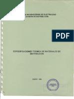 Especificaciones Tecnicas de Materiales de Distribucion