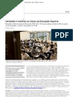 Verdades e mentiras do Censo da Educação Superior - Brasil - Notícia - VEJA