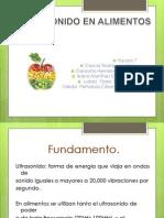 Ultrasonido en Alimentos (1)