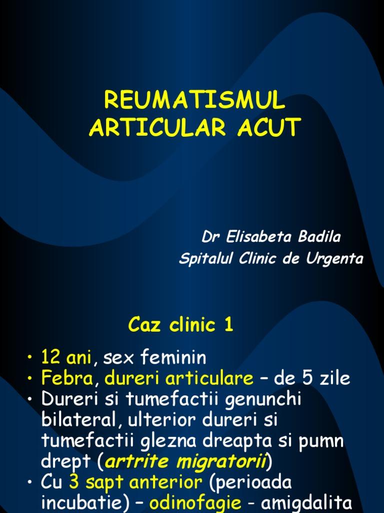 studiu de caz reumatismul articular acut