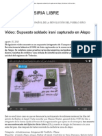Video_ Supuesto soldado iraní capturado en Alepo