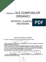 Reactiile Compusilor Organici I
