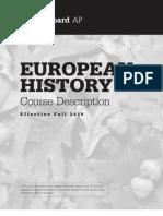 AP European History 2010 Course Exam Description