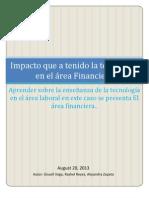 Impacto de la tecnología en el área financiera