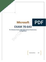 Testking Microsoft 70-643