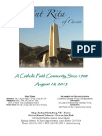 St. Rita Parish Bulletin 8/18/2013