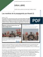 Las Mentiras de La Propaganda Pro-Assad (I)
