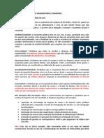 RESUMO ADMINISTRAÇÃO ORÇAMENTÁRIA E FINANCEIRA