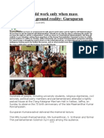 Diplomacy Could Work Only When Mass Mobilisation is Ground Reality Guruparan