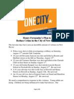 Henry Fernandez's Plan for Crime Reduction