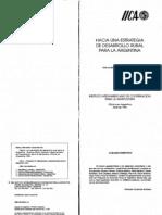 IICA - Basco - Hacia Una Estrategia de Desarrollo Rural Para La Argentina