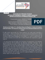 Hacia la Construcción de la Internacionalización de Bogotá Relatoría 2